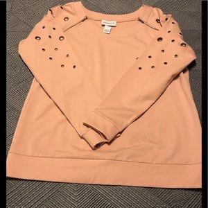 Peck & Peck long sleeve pink top.